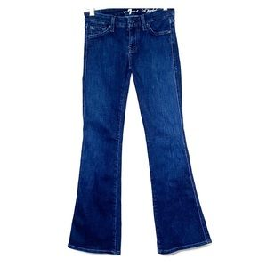 7 FOR ALL MANKIND • A Pocket Dark Wash Flare Jeans